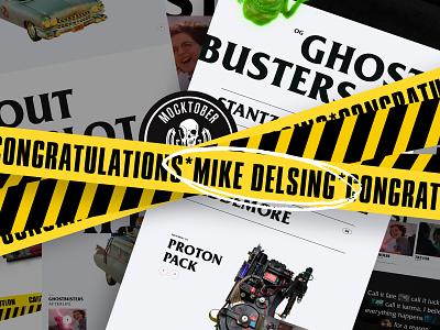 2020 Mocktober Champ - Mike Delsing landing page 3d art ui ghostbusters goat champ mocktober