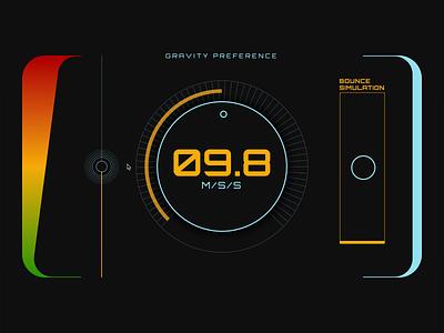 Gravity Preference dashboard gravity interface form tech motion