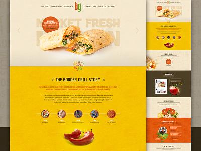 BG Website landing food texture restaurant bright elegant seagulls pattern parallaxing
