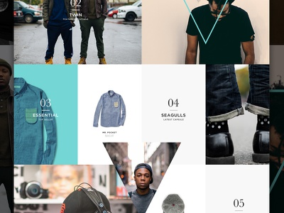 Selective Few angle grid elegant seagulls e-commerce web store shop boutique fashion ecommerce