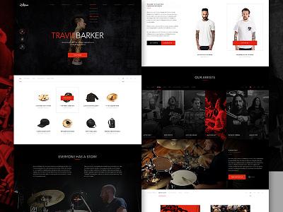 Zildjian Full elegant seagulls web design drums e-commerce store shop music dark zildjian cymbals