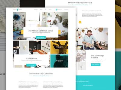 WFT Full elegant seagulls web design e-commerce shop store grid clean product white overlay ecommerce