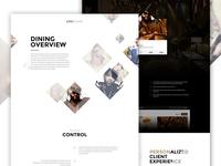 Seven Live elegant seagulls angle web design food restaurant landing single page diamond