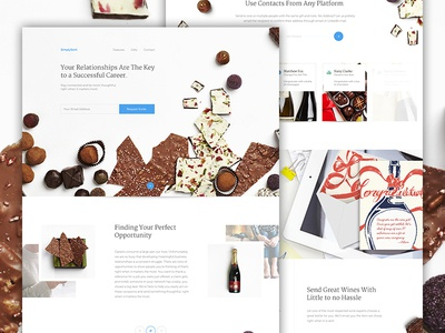 Simply Sent elegant seagulls candy sign up social landing web design wine clean squeeze ecommerce e-commerce