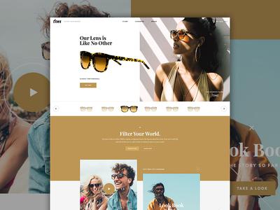 Tens Live landing tens lookbook shopify modern fashion shop website e-commerce ecommerce sunglasses elegant seagulls