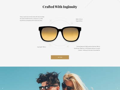 Tens Product Page tens type cart modern shopify specs shop product e-commerce ecommerce sunglasses elegant seagulls
