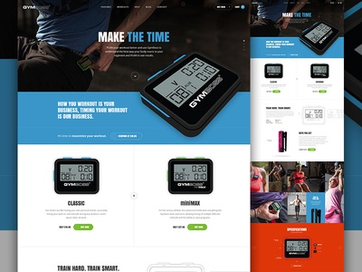 Gym Boss Final grid watch shop specs landing product crossfit store gym e-commerce ecommerce elegant seagulls