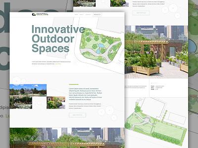 CLA website architect outdoor landscaping corporate green landing portfolio architecture elegant seagulls