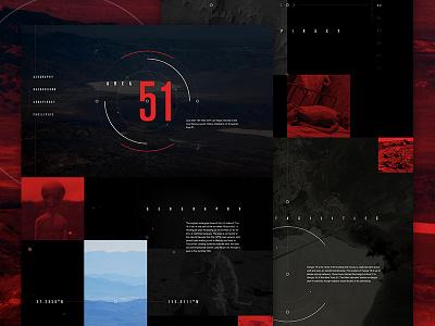 Area 51 exploded grid elegant seagulls aliens dark black red web halloween scary spooky area51 mocktober