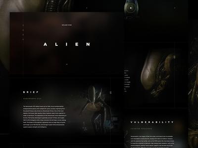 Alien mocktober landing promo movie halloween grain film dark alien elegant seagulls