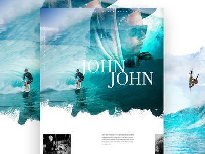 John John nixion watercolor exploded grid im jack dusty surf store ecommerce e-commerce elegant seagulls