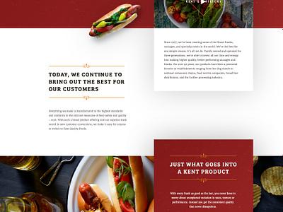Kent Meats type promotion restaurant web meat food elegant seagulls