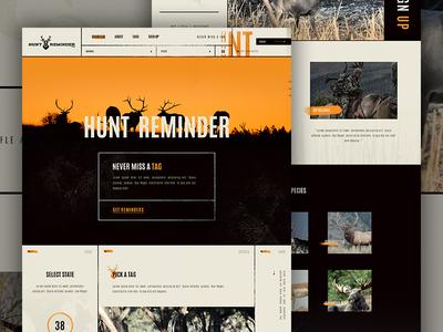 Hunt Reminder Concept  landing line orange nature outdoors hunting tag grunge elegant circles