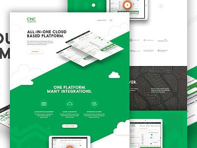 Cinc Concept Two art direction angles landing b2b business icon cloud software saas elegant seagulls