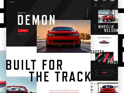 Dodge Challenger Demon web type automotive auto landing car dodge