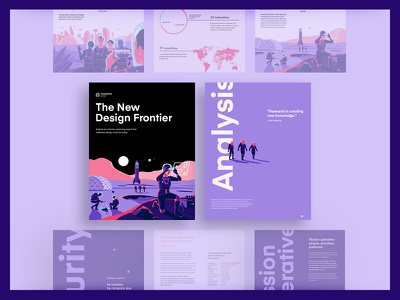 InVision - New Design Frontier PDF clean print infographic graphs pdf report color type illustration brand