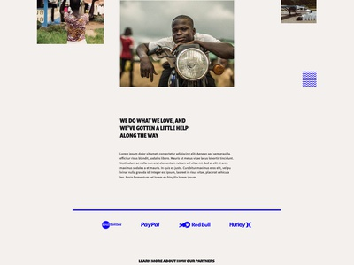 Waves 4 Water Concept clean donate water typography type landing page non-profit nonprofit