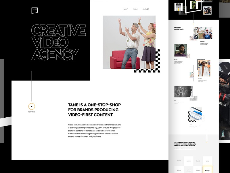 Tane Live case study web portfolio motion agency video
