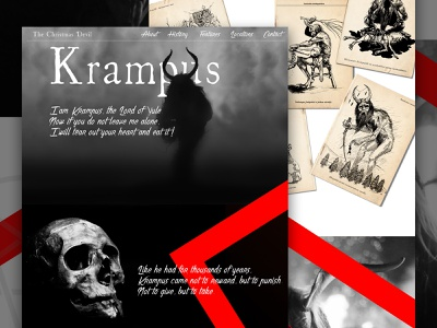 Krampus webdesign ui web krampus halloween mocktober