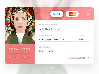Credit Card Checkout cart master card visa village pink daily ui checkout credit card