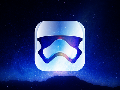 App icon dark side star wars space app icon new mask stormtrooper daily ui