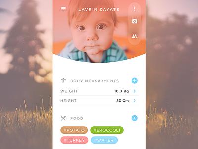 User profile friendly app daily ui user profile child baby