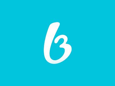 b3 logo  shapes simple blue logo logotype