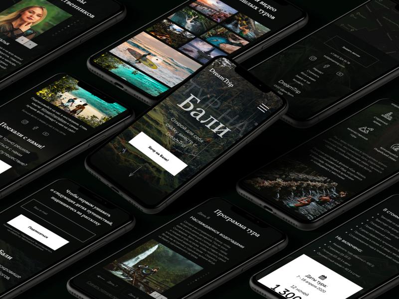 Mobile version of travel agency website