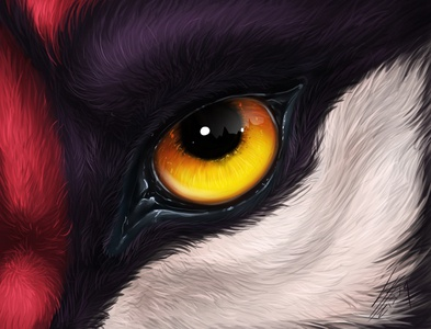 Sabertooth Eye in realistic style
