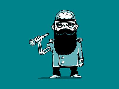 Cyborg Pirates. Lawrence Darkmind. Captain. robotics cybernetics cyborg character design character illustration sailor pirate pirates