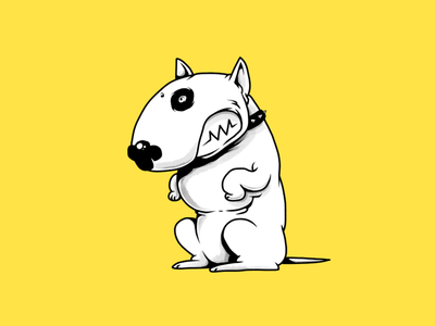 Bull Terrier bull terrier bullterrier pets pet dogs dog terrier monochrome characters illustration