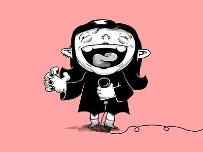 Goth troll gothic goth trolls troll rock music monochrome characters illustration