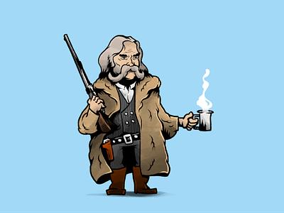 John Ruth, The Hangman character design western tarantino movie characters illustration