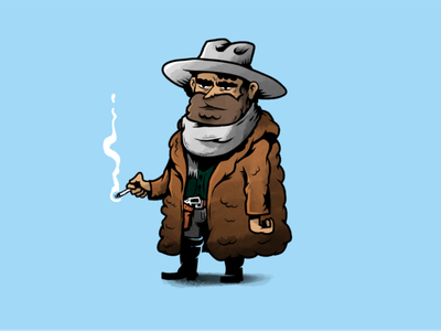 Senor Bob, also known as Marco the Mexican character design western movie tarantino characters illustration