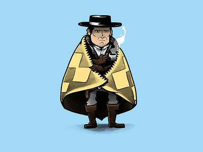 Chris Mannix, new sheriff of Red Rock movie western tarantino cinema character design characters illustration