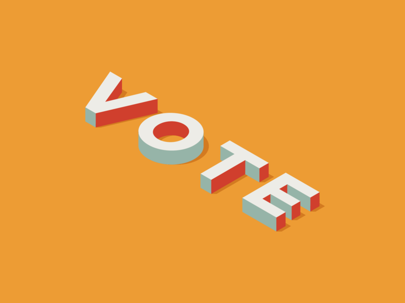 Vote isometric america usa politics democracy voting ballot election vote