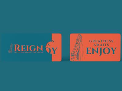 Reign Room Key branding design las vegas cetti reign