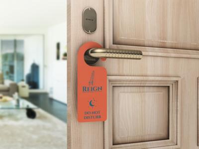 Reign Door Hanger hotel graphic design branding cetti reign