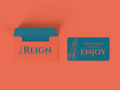 Reign Room Key graphic design las vegas hotel design branding cetti reign