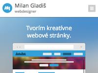 Responsive web - milangladis.sk
