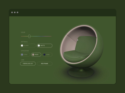 WebAR Landing Page page landing checkbox hue form vectary customizer 3d