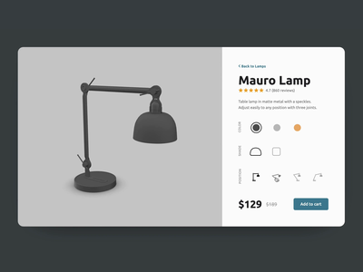 3D Product Customizer | Vectary configurator ar ecommerce product shop vectary ui ux render animation lamp custom 3d