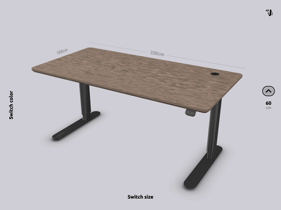 Standing Desk | Vectary 3D Product Configurator js css html vectary web ui ux design animation configurator ecommerce ar table product customizer 3d