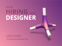 VECTARY is hiring a UX/UI Designer