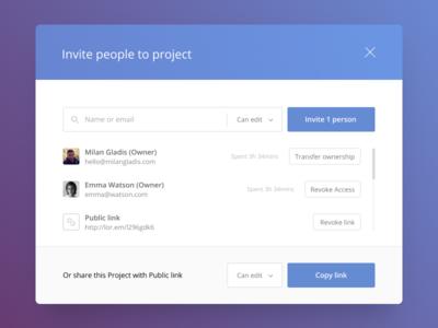 Invitation UI — Share & Collaborate Online