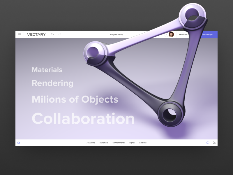 Enjoyable Vectary Online 3D Design Software By Milan Gladis On Dribbble Home Interior And Landscaping Ologienasavecom