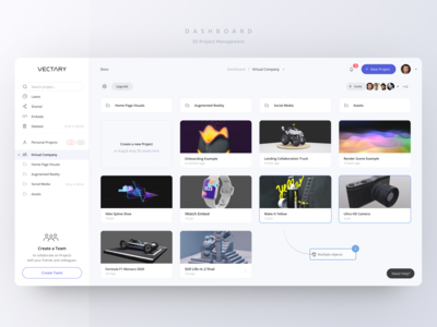Online Dashboard — Manage 3D Content