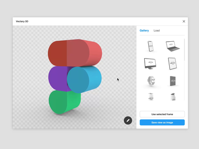 Figma 3D by Vectary 3D plugin vectary template mockup logo ui ux 3d sketch figma