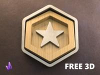 3D Badge Icon