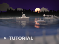 Sunset Lake in 3D